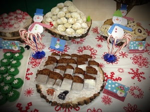 Mexican Wedding Cookies, Banana Bread, Chocolate Covered Oreos, Strawberry Thumbprint Cookies